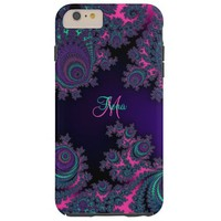 Personalized Purple Fractal iPhone 6 Case