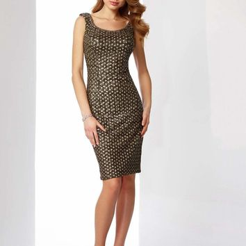 Social Occasions by Mon Cheri - 217845 Sequin Encrusted Cocktail Dress