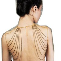 WIIPU Noble Queen Dance party shoulder Crossover Body Belly Harness Body Chain(wiipu-C266)