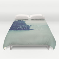 Adventure Island Duvet Cover by Leah Flores