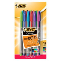 BIC Cristal Ballpoint Pen in Assorted Colors - 15ct: Target