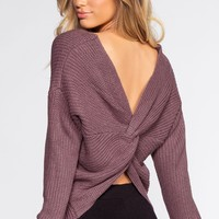 Twist And Shout Sweater - Lavender