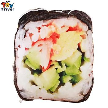 Simulation Plush Sushi Toy Stuffed Doll Creative Japanese Food Pillow Cushion Shop Home Decor Funny Gift Triver Drop Shipping
