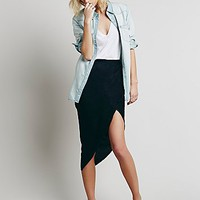 District for Free People Womens Lily Wrap Column Skirt