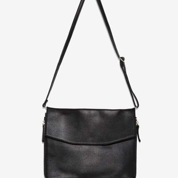 Keep It Brief Zipper Crossbody Bag