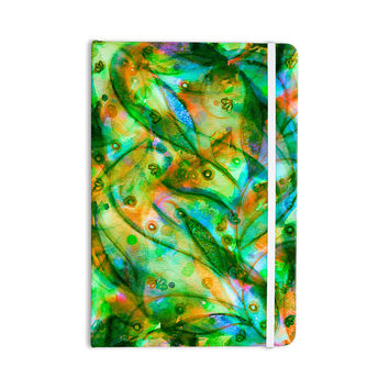 "Ebi Emporium ""Flourish - Green"" Emerald Floral Everything Notebook"