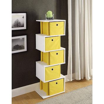 Zig Zag Storage Drawer - Yellow -4DC Concepts