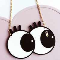 Eyelash iPhone Case with Shoulder Strap