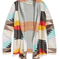 Girl's Billabong 'Back in the Middle' Cardigan,