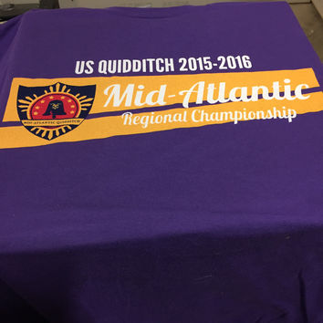 US Quidditch Regionals Shirt- Mid-Atlantic 2015