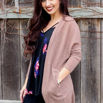 Take It Back Cardigan: Mocha