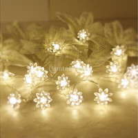 20-LED 86.6inch Battery Operated Christmas Wedding Flower Shape String Lamp Fairy Lights [7981615687]