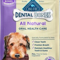 Blue Buffalo Dental Bones Chews Dog Large Treats 12 oz