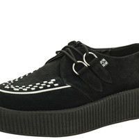 T.U.K. BLACK AND WHITE SUEDE VIVA MONDO CREEPERS - V8366