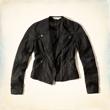 Boneyard Beach Faux Leather Biker Jacket