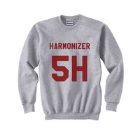 5H Harmonizer Maroon print on Crew neck Sweatshirt