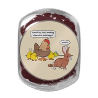 Funny Easter Bunny Chocolate Eggs Glass Jars