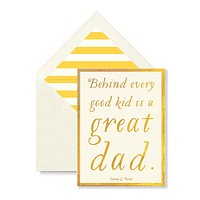 Great Dad Greeting Card, Single Folded Card or Boxed Set of 8