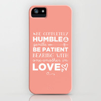 Ephesians 4:2 Bearing one another with Love iPhone & iPod Case by Pocket Fuel