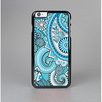The Vibrant Blue and White Paisley Design  Skin-Sert Case for the Apple iPhone 6 Plus