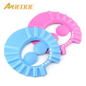 ABEDOE Adjustable Baby Hat Toddler Kids Shampoo Bath Bathing Shower Cap Wash Hair Shield Direct Visor Cap For Children Baby Care