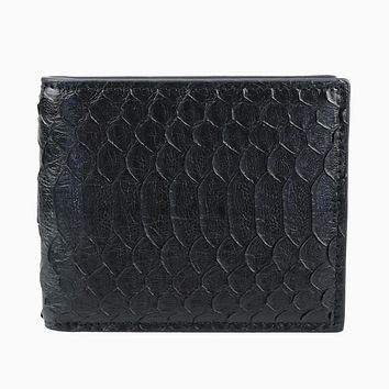 Luxury mixed color real exotic snake python skin wallet, short genuine python leather wallet