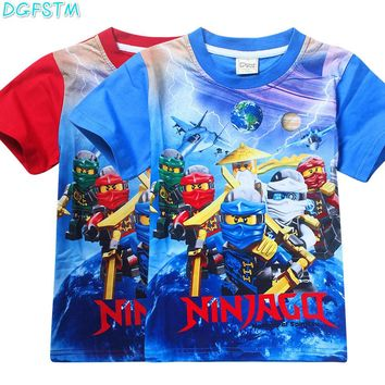 Vaiana Ninja Cartoon ninjago Trolls summer children kids Boys tees t shirt moana clothing cute design girls princess t shirt