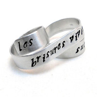 Personalized Two Finger Ring Silver Tattoostyle by MerCurios