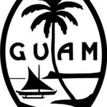 Guam Logo Vinyl Car/Laptop/Window/Wall Decal