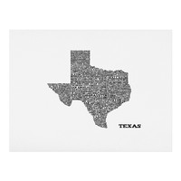 Restudio Designs Texas Map Art Print