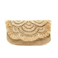 Large Fair Trade Tropical Clutch, Handwoven in Madagascar   Sand – The Little Market