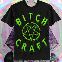 ANY COLOR // UNISEX Bitch Craft Drippy Slimepunk Pentagram T-Shirt // fASHLIN