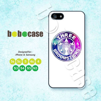 Starbucks, Broomsticks, Galaxy, iPhone 5 case, iPhone 5C Case, iPhone 5S case, Phone cases, iPhone 4 Case, iPhone 4S Case, iPhone case, 0585
