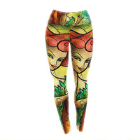 "Mandie Manzano ""Poison Ivy"" Villain Yoga Leggings"