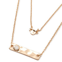 Hammered Charm Layered Necklace