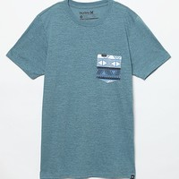 Hurley Warrior Pocket T-Shirt - Mens Tee - Pacific Blue