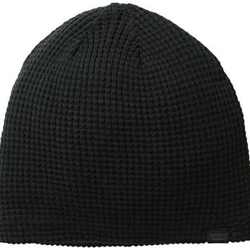 Levi's Men's Waffle Knit Beanie with Sherpa Lining, Black, One Size