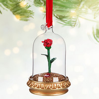 Enchanted Rose Light-Up Sketchbook Ornament - Beauty and the Beast - Personalizable | Disney Store