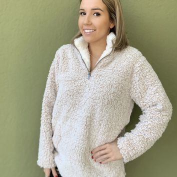 Sherpa Pullover- Oatmeal