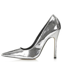 GALLOP Metallic Court Shoes - Silver