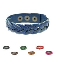 SWEETIE 8 Jewelry Fishtail Braided Wrap Leather Bracelet Adjustable 6 to 7.5 Inches Men's Women's