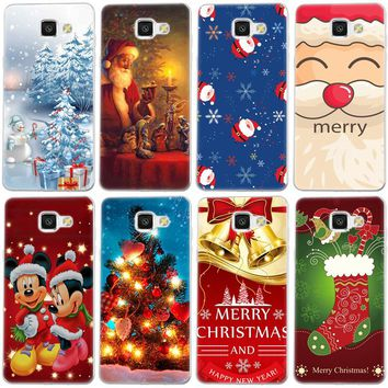 Cute Christmas Design Transparent Silicone Cases Cover Coque For iPhone X 8 7 4 4S 5 5C 5S SE 6 6S 7 8 Plus Luxury Phone Case