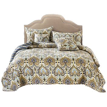 Tache Bohemian Spades Quilted Coverlet Bedspread Set (SD-42)