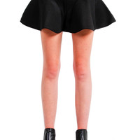 Black Knit Peplum Skirt