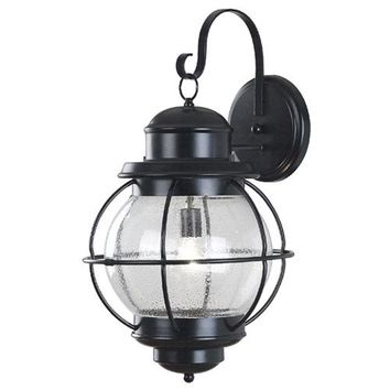 Kenroy Home 90964BL Hatteras Extra Large Black Outdoor Wall Mounted Lantern