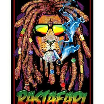 Rastafari Blacklight Poster - Spencer's