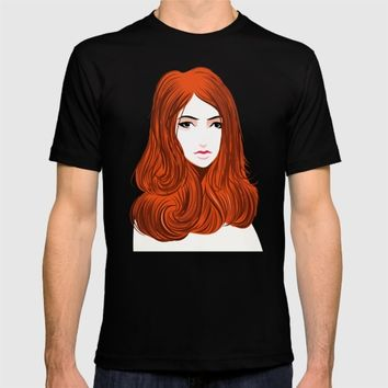 Orange Girls T-shirt by dhiazkaosy