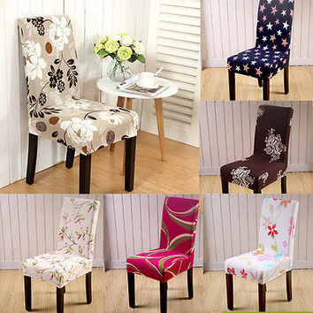 High Quality Stretch Dining Chair Covers Elasti Chair Protector Slipcover Decor