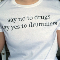 no to drugs yes to drummers t-shirt ©  5 Seconds Of Summer 5SOS Shirt