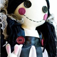 Cloth Baby Doll - Dorothy Doll with black and white stripes
